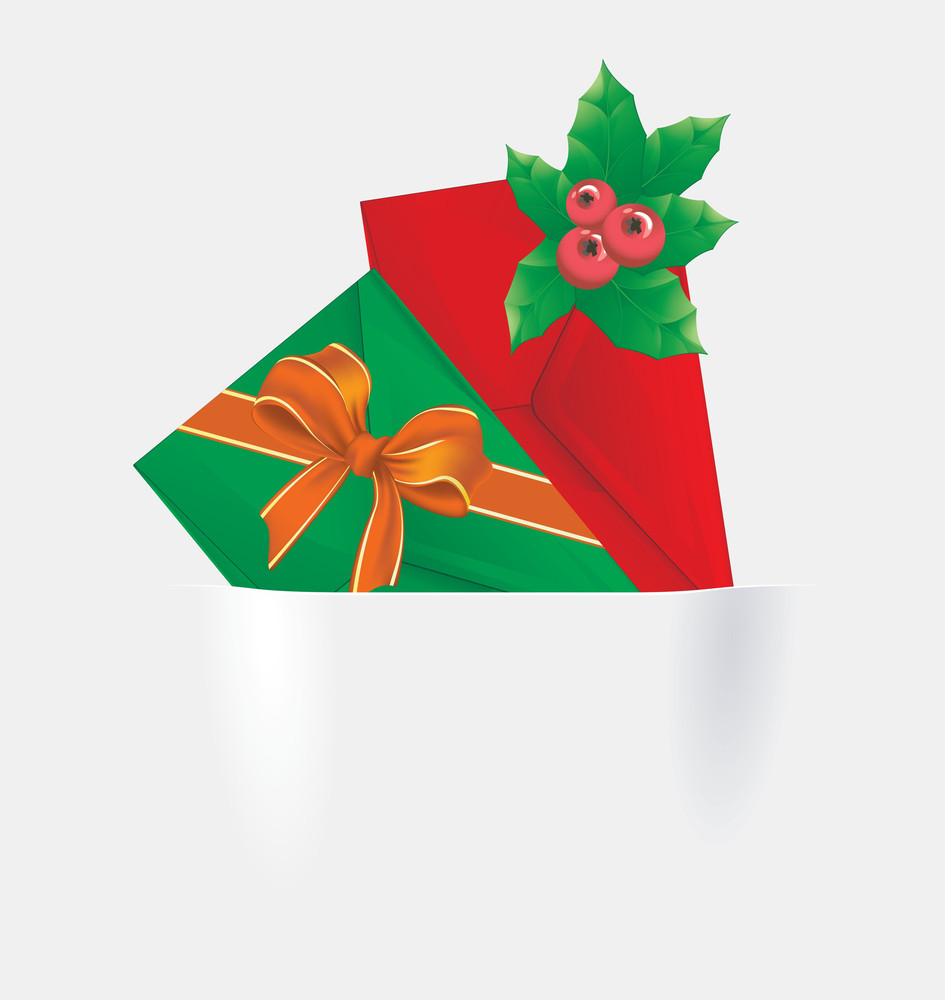Christmas Icon Pockets. Vector.