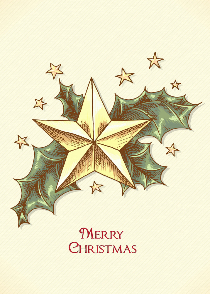 Christmas Illustration With Christmas Star