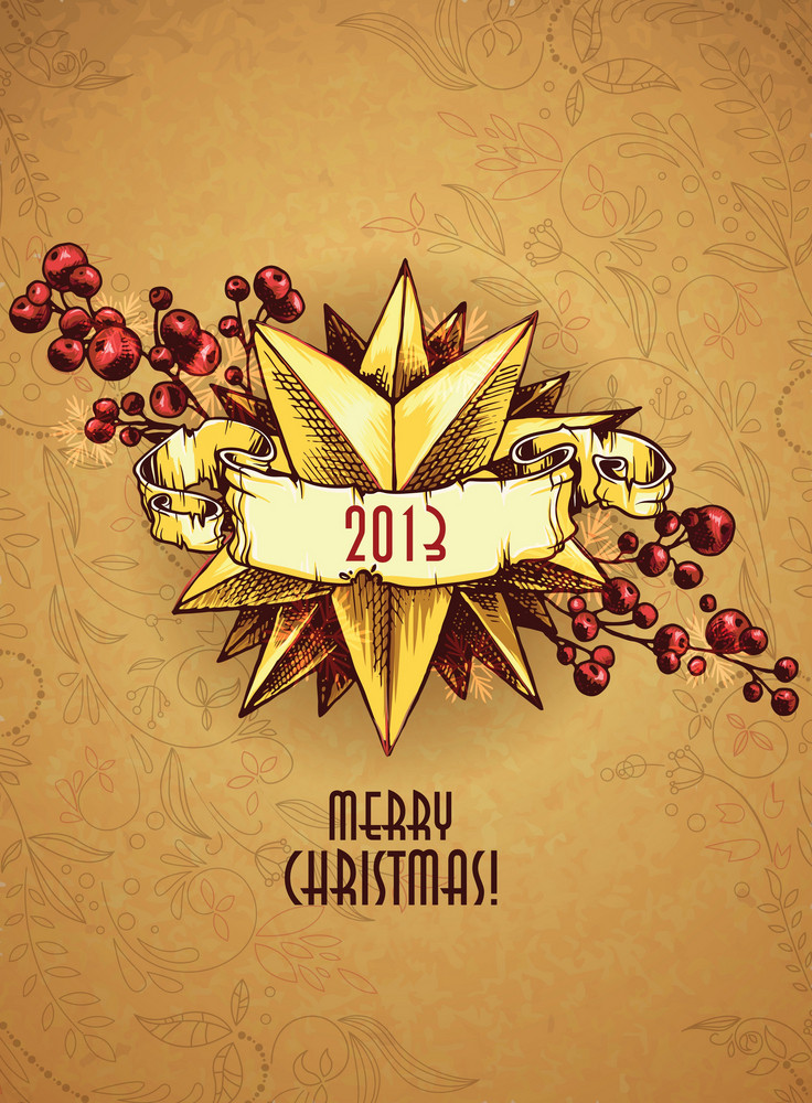 Christmas Illustration With Christmas Star
