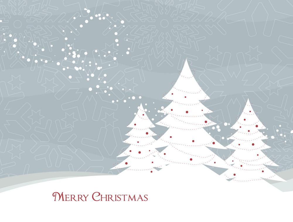 Christmas Illustration With Christmas Trees