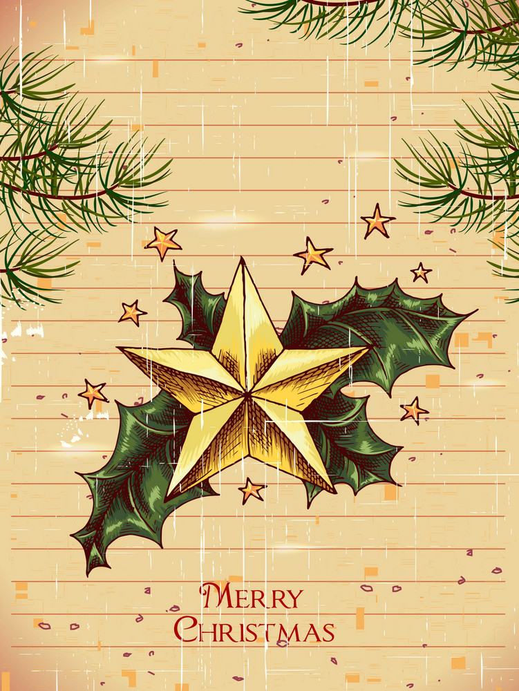 Christmas Illustration With Star
