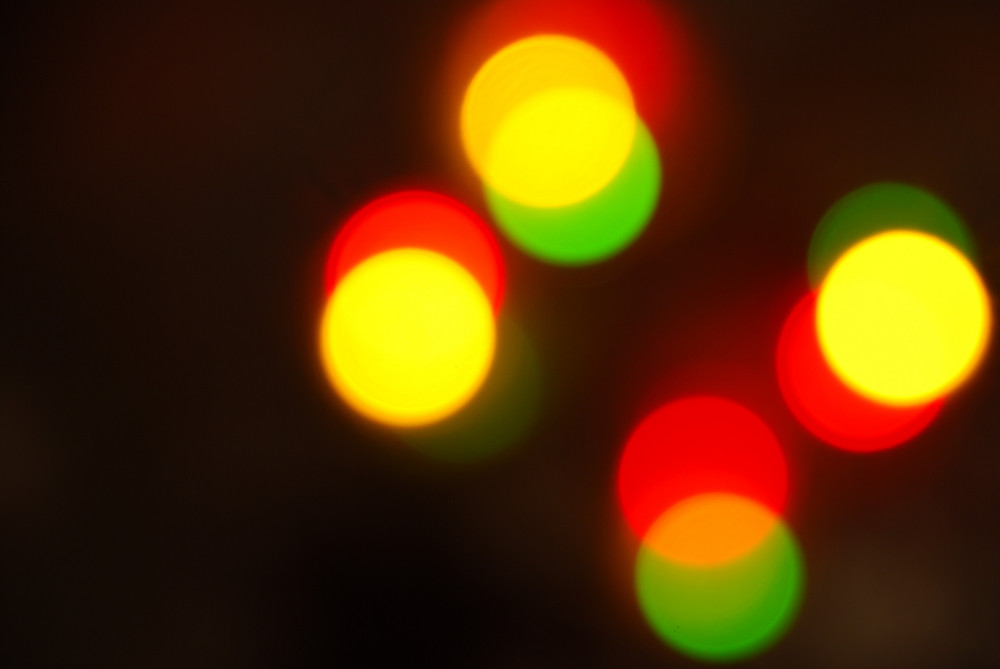 Christmas Lights Glowing (blur Motion Background) Royalty