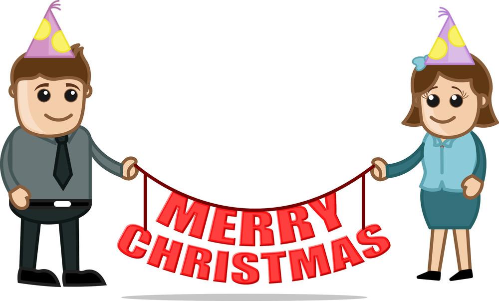 Christmas Celebration Cartoon Images.Christmas Party Celebration Cartoon Business Characters
