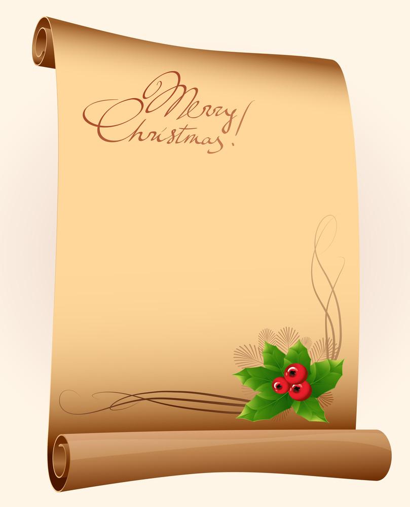Christmas Scroll. Vector.