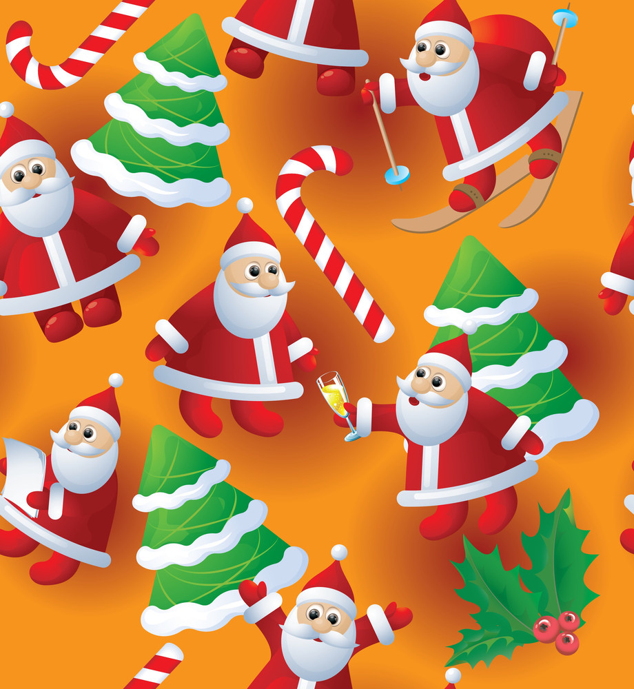 Christmas Seamless Vector Background.