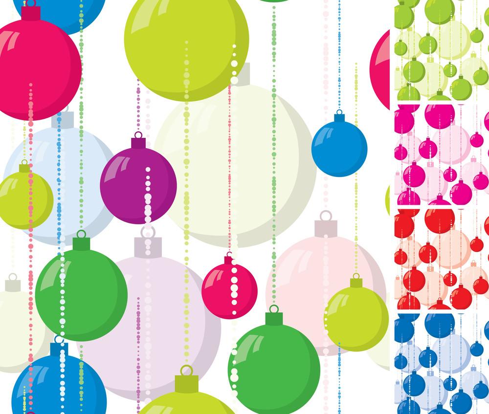 Christmas Seamless Vector Background.