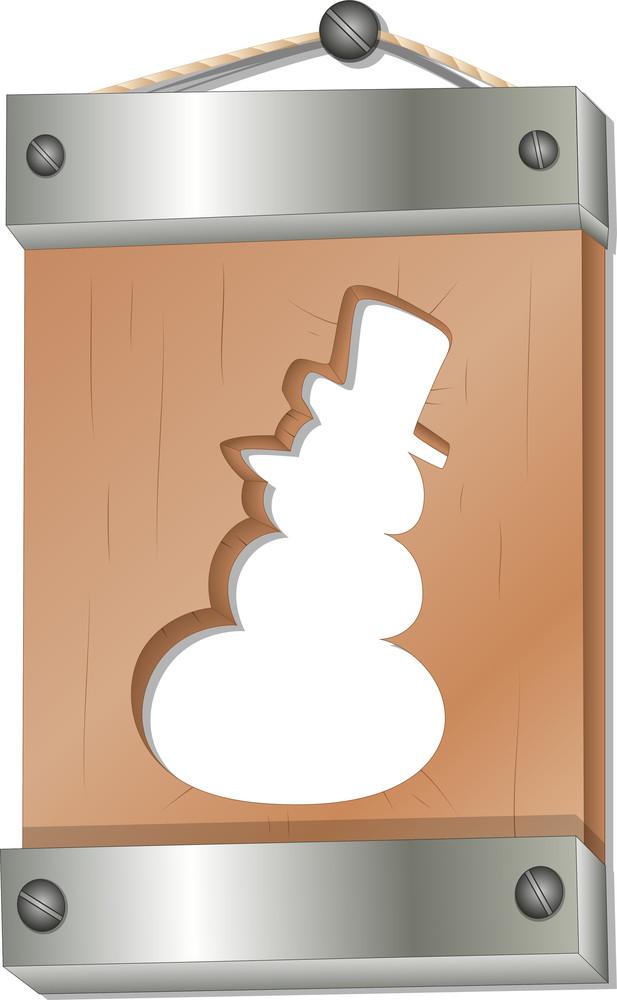 Christmas Sign Board - Christmas Vector Illustration