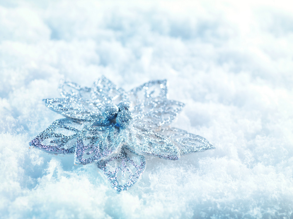Snow For Christmas.Winter And Christmas Background Beautiful Sparkling Silver