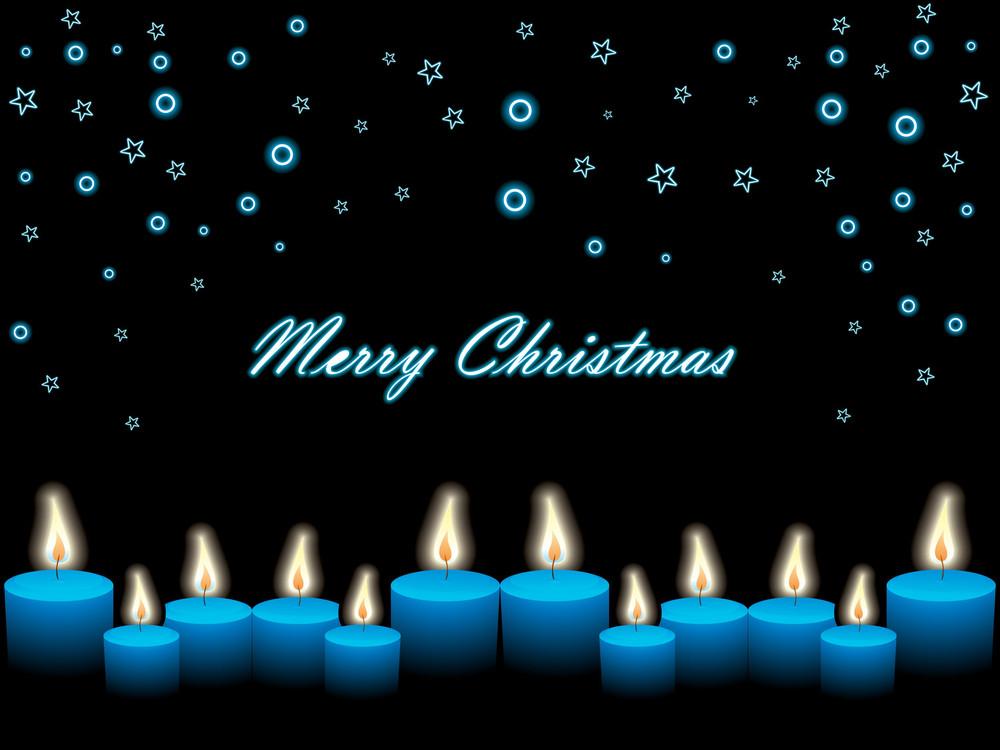 Christmas Snowflake And Candles