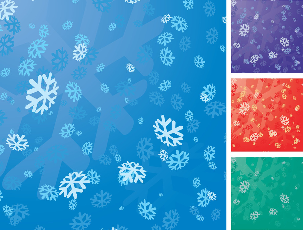 Christmas Snowflake Vector Background.
