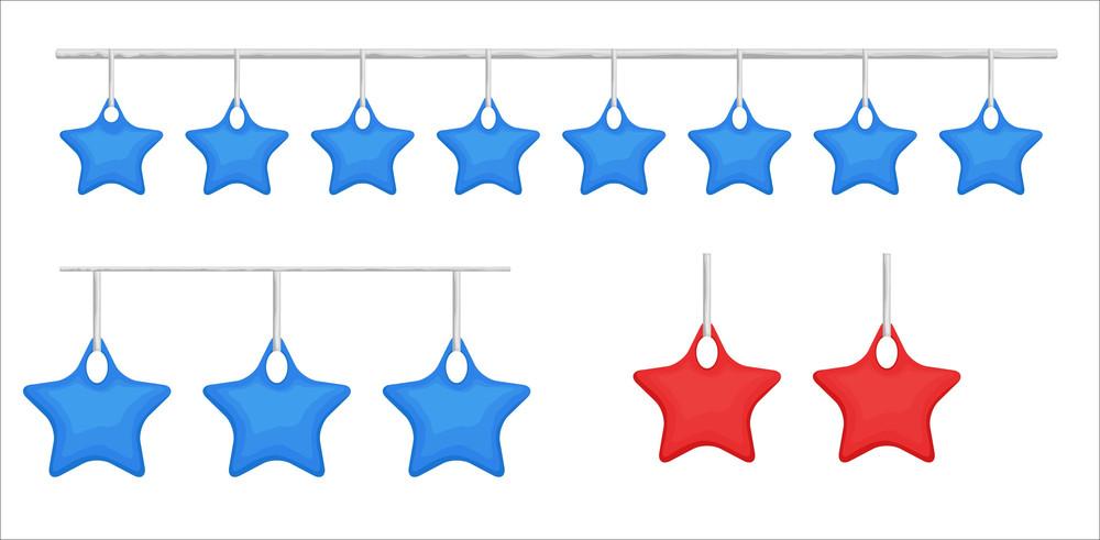 Christmas Stars Decorative Elements