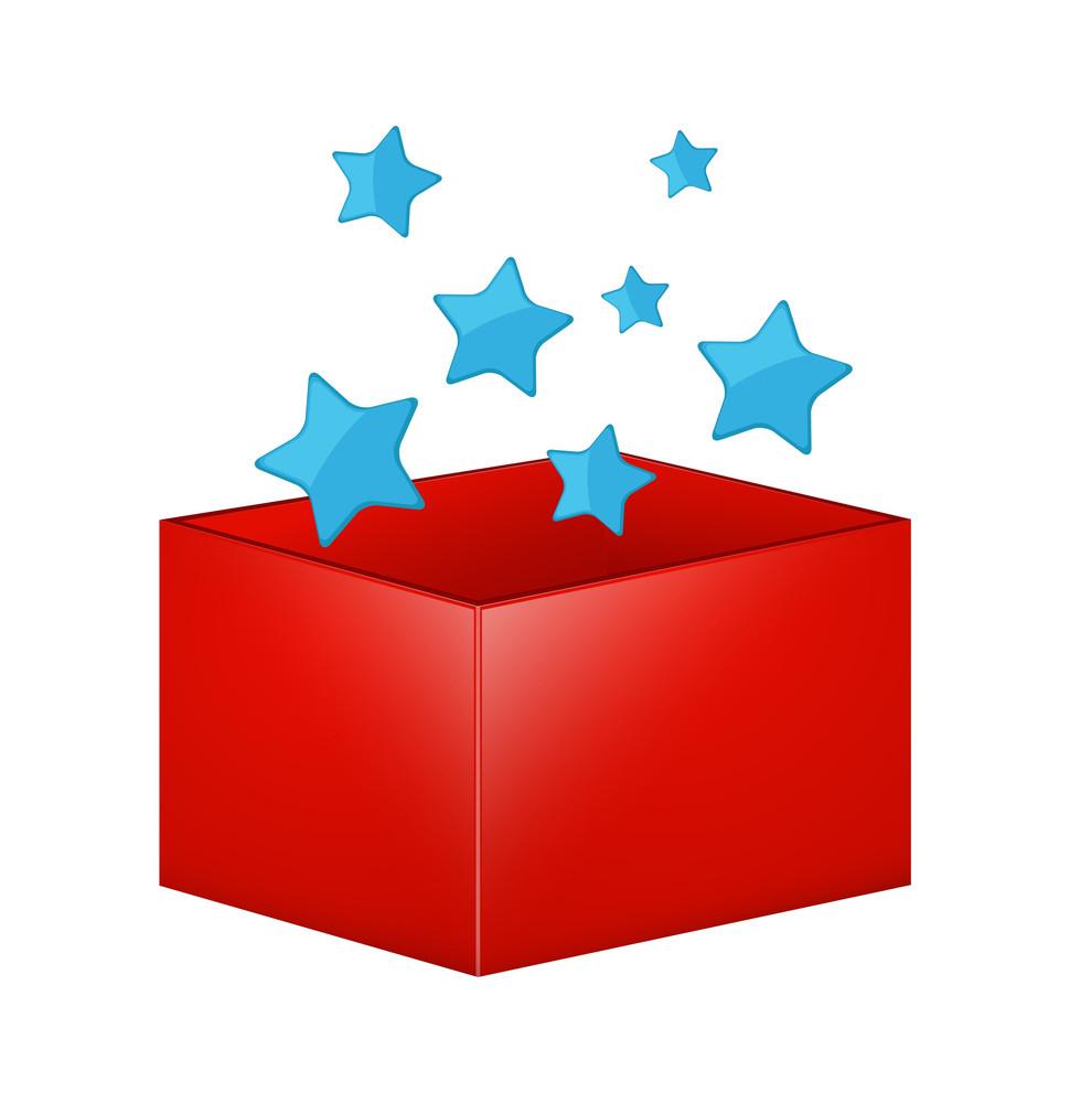 Christmas Stars Gift Box