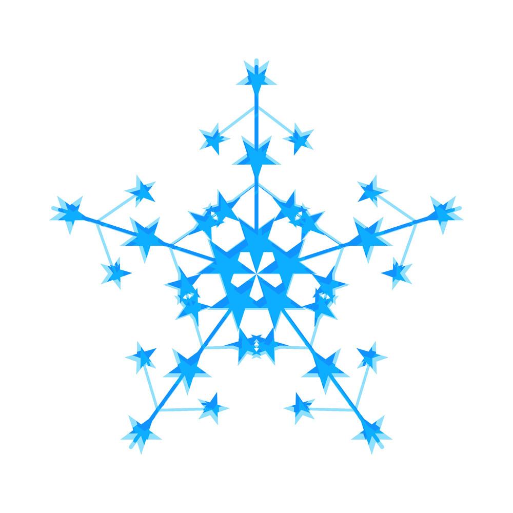 Christmas Stars Snowflake