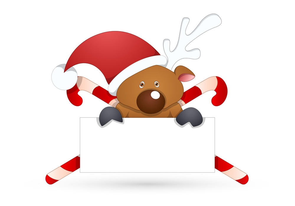 Christmas Style Blanck Banner Vector Illustration