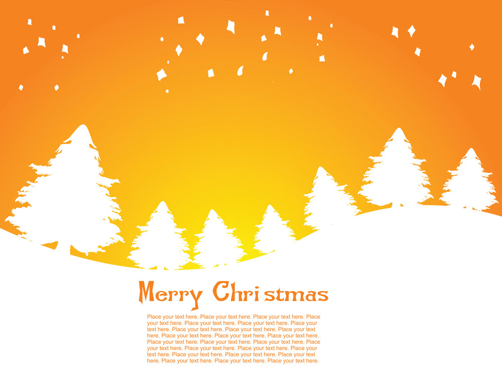 Christmas Tree Background With Sample Text