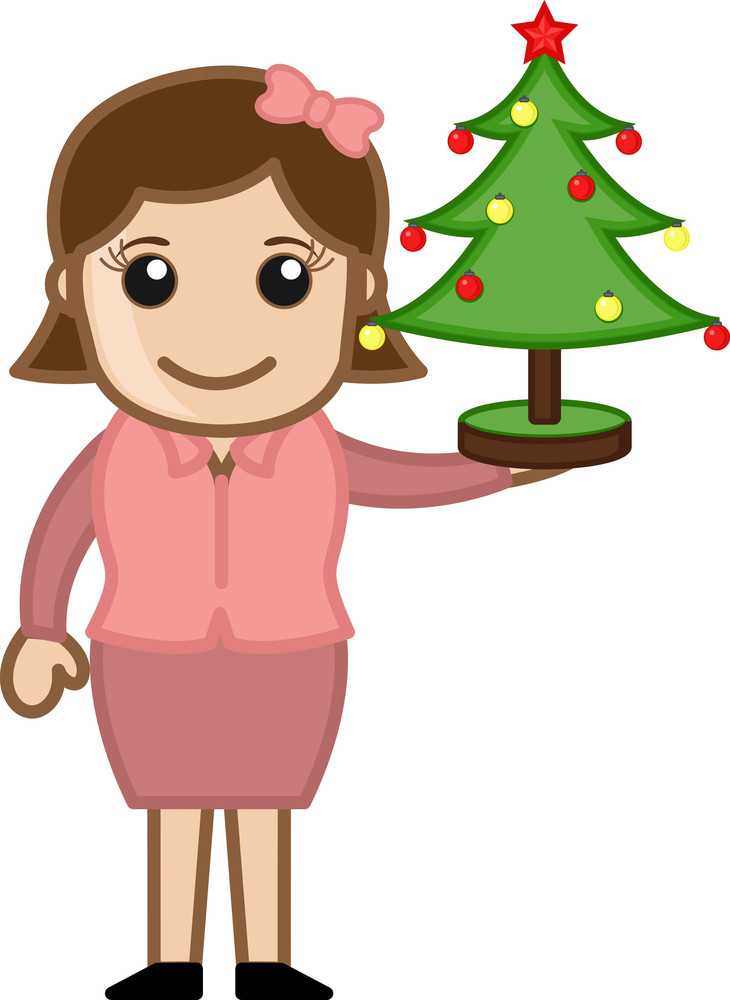 Christmas Tree - Business Cartoon Character