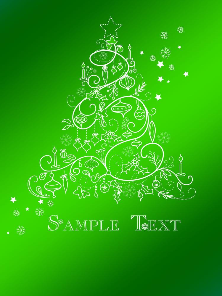 Christmas Tree Card-