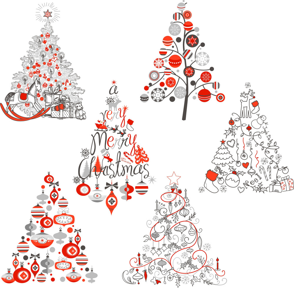 Christmas Tree Collection. Vintage