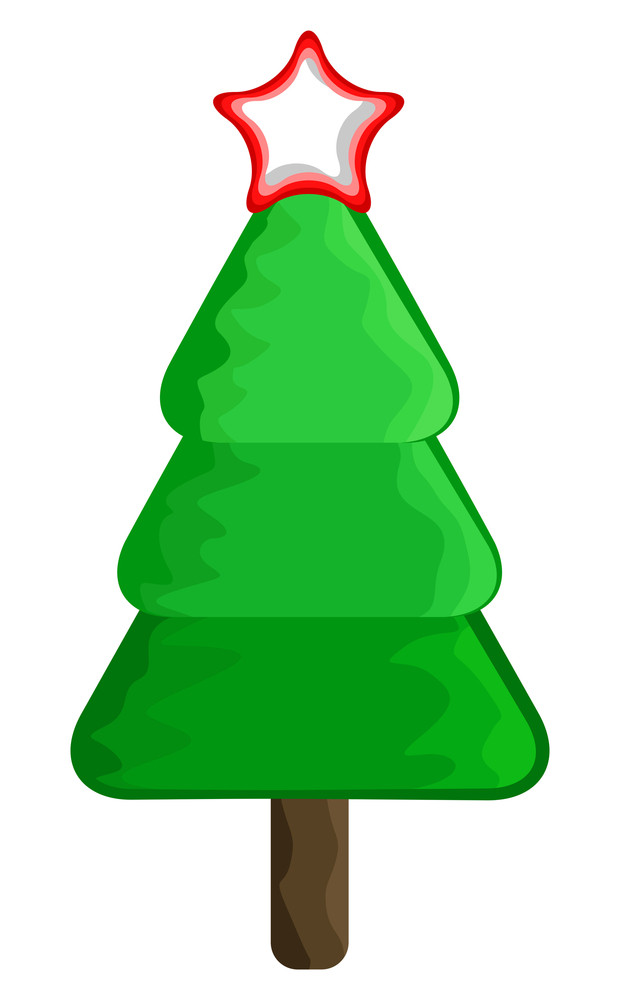 Christmas Tree Design With Star Element