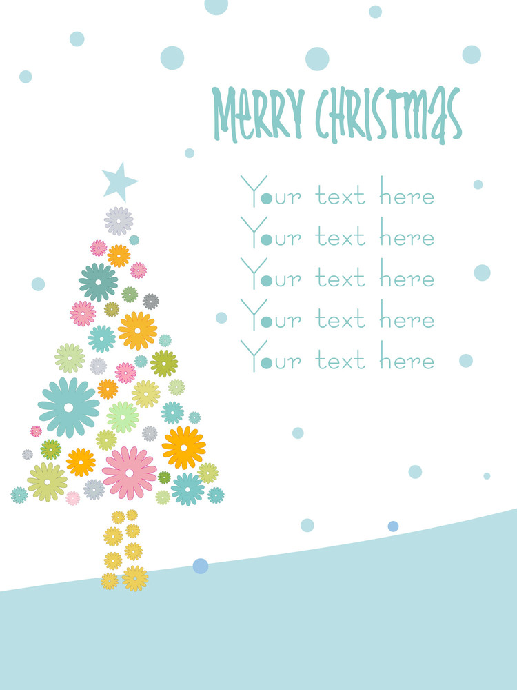 Christmas Tree Designed With Snowflake