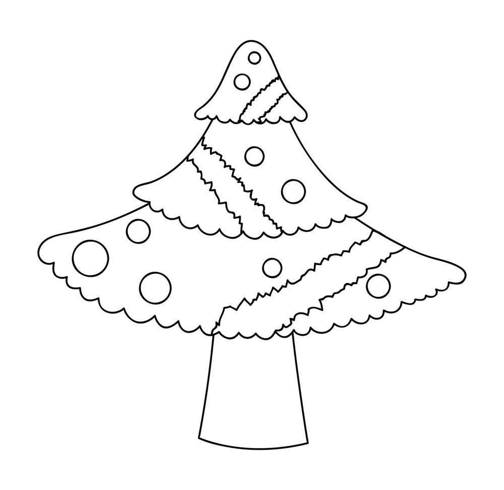 christmas tree drawing royalty-free stock image