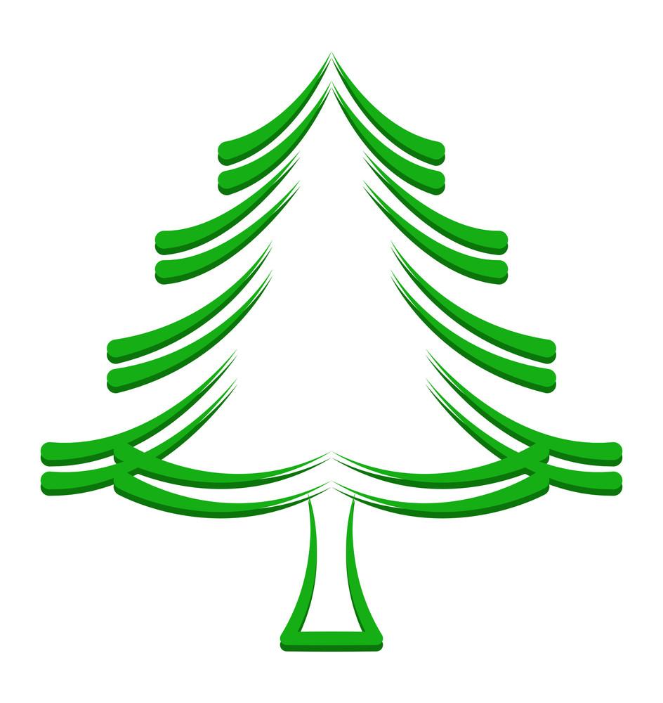 Christmas Tree Frame Design Royalty-Free Stock Image - Storyblocks