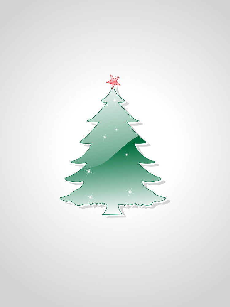 Christmas Tree Isolated On Background