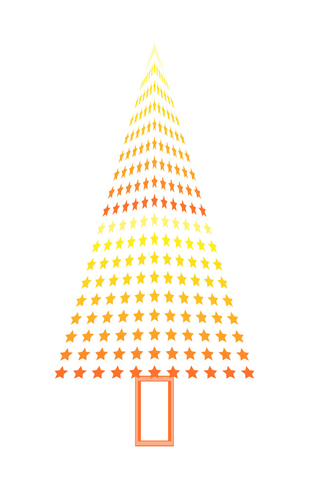 Christmas Tree Made From Stars