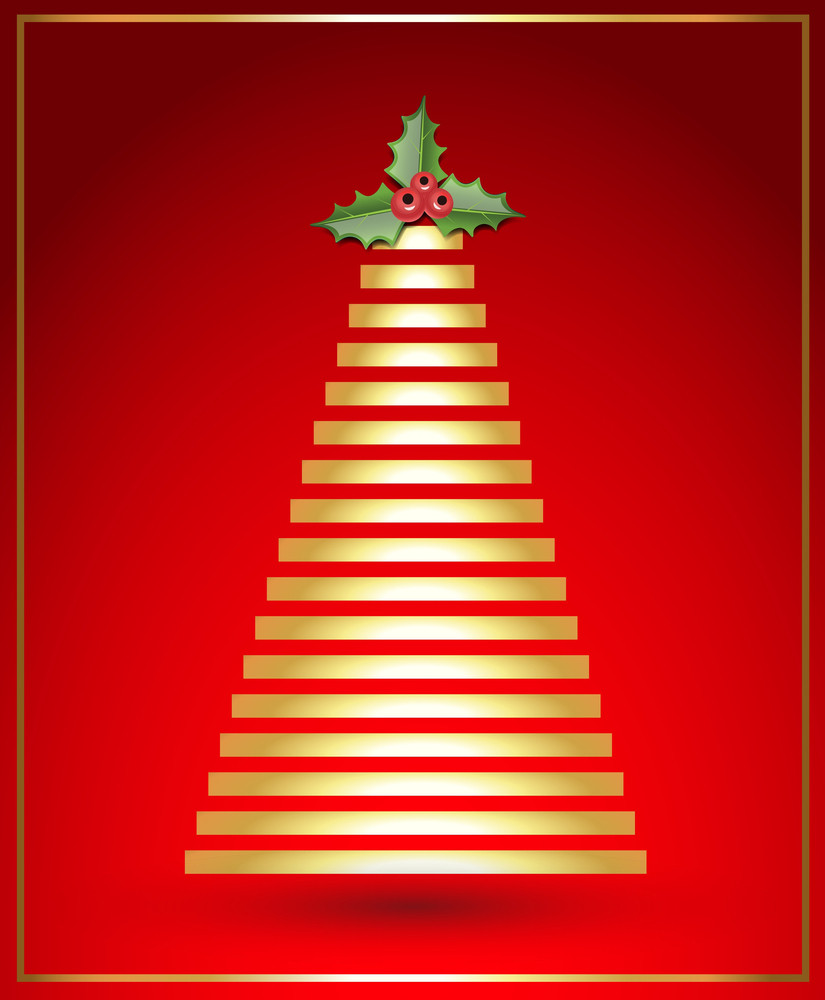 Christmas Tree Vector Background