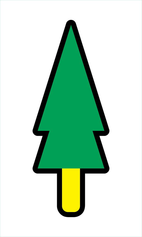 Christmas Tree Vector Shape Art