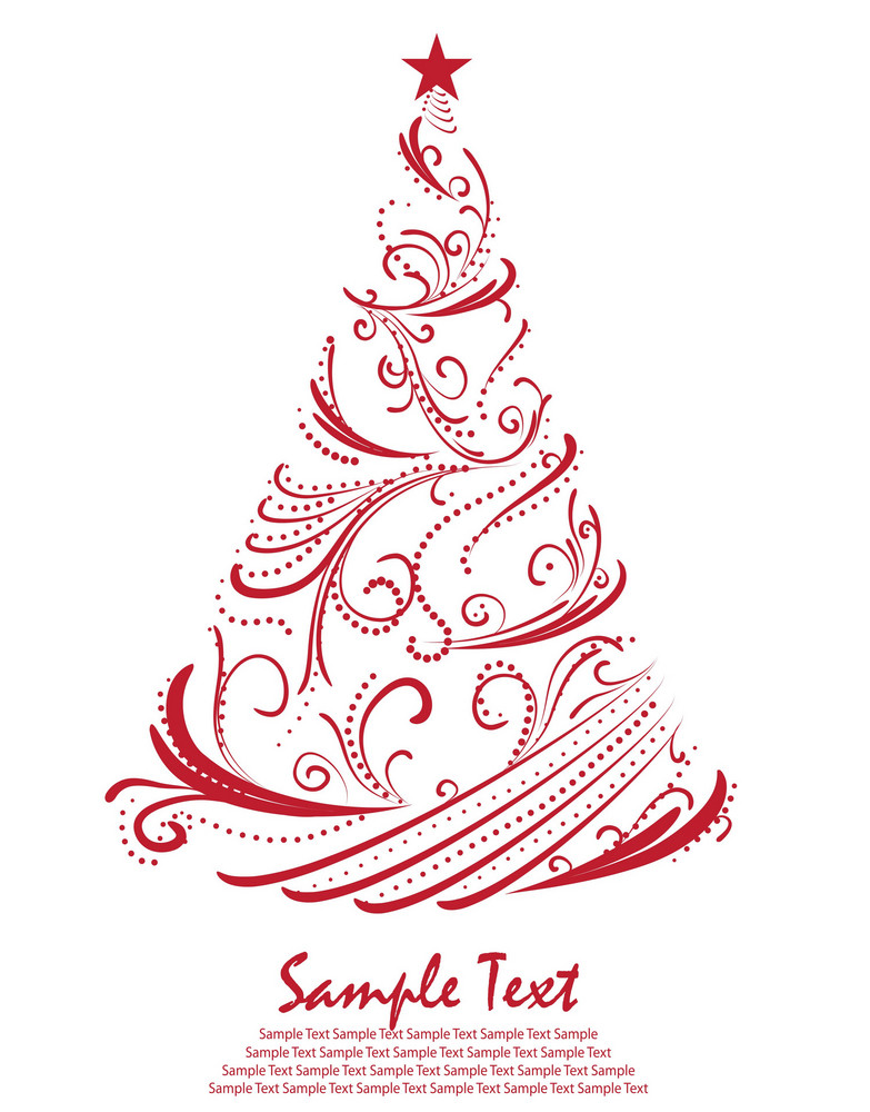 Christmas Tree Vector Image.Christmas Tree Vector Royalty Free Stock Image Storyblocks