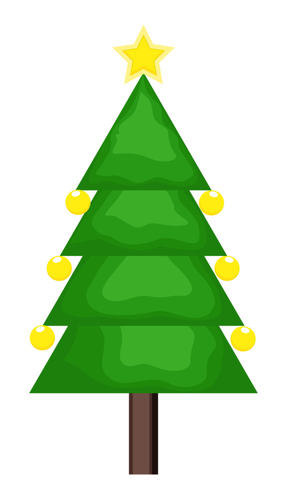 Christmas Tree With Decorative Elements
