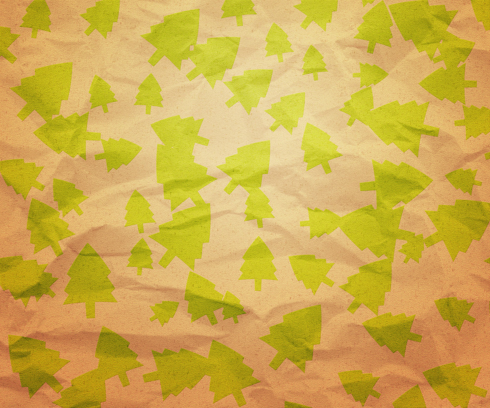 Christmas Trees Paper Texture