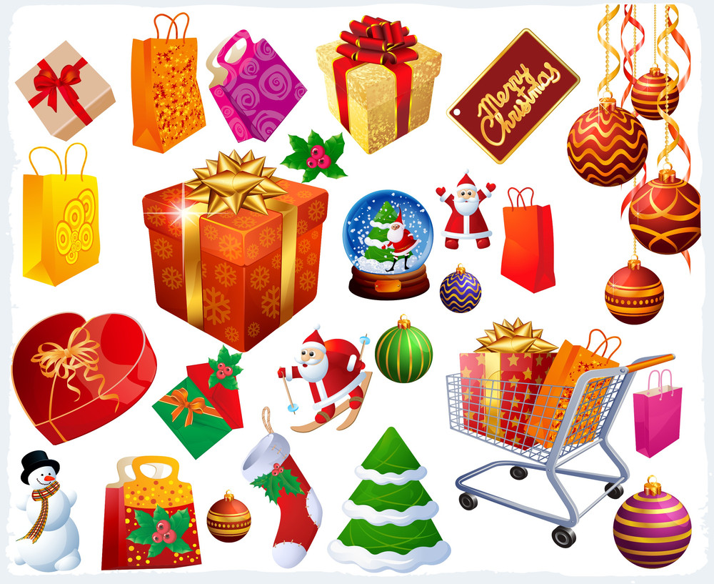 Christmas Vector Design Elements And Icons.
