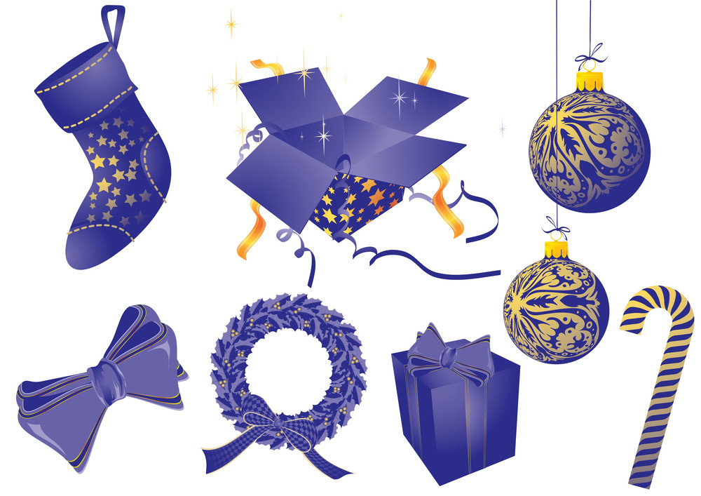 Christmas Vector Elements Set.