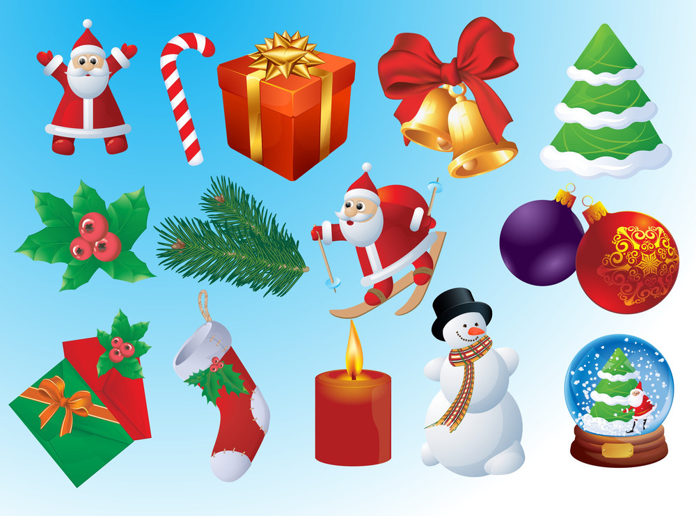 Christmas Vector Icon Set.