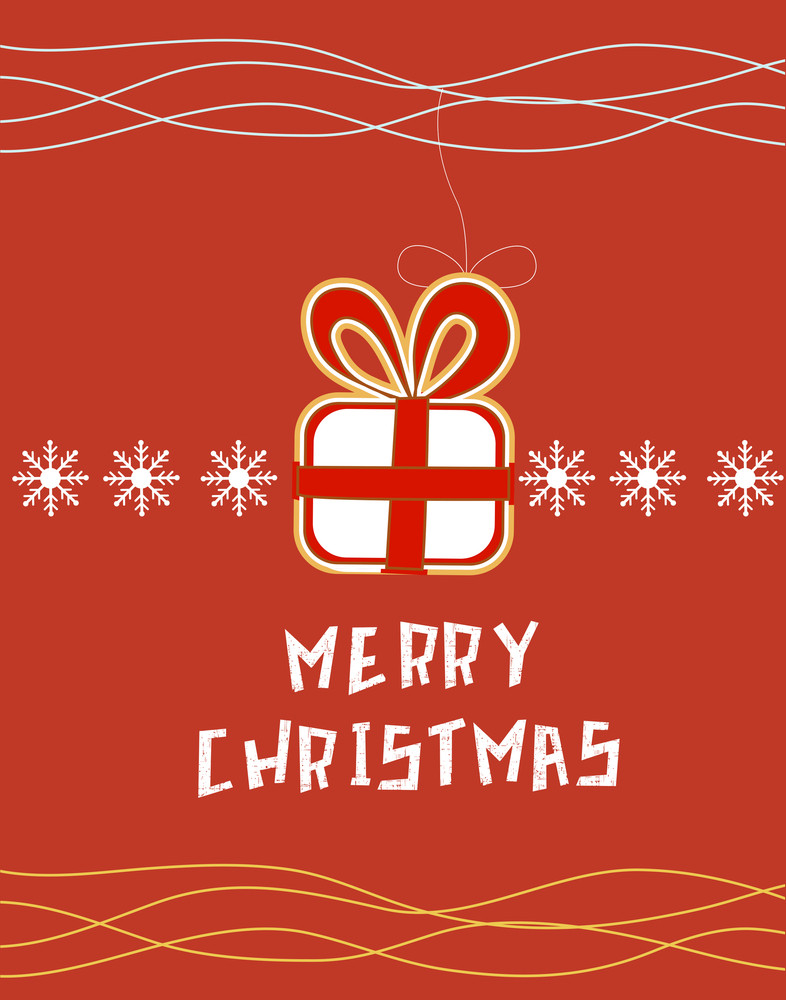 Christmas Vector Illustration (editable Text)