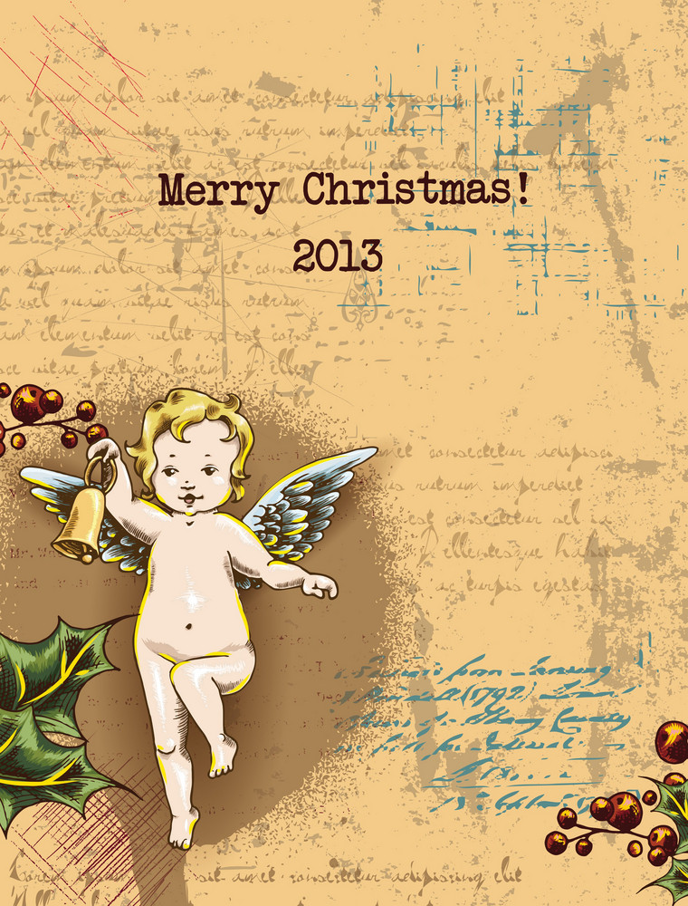 Christmas Vector Illustration With Angel