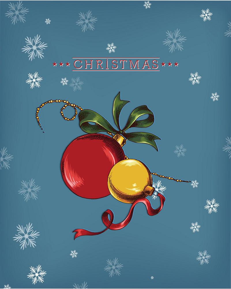 Christmas Vector Illustration With  Christmas Globe