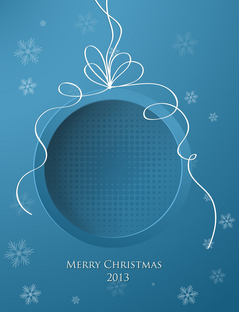 Christmas Vector Illustration With Christmas Globe