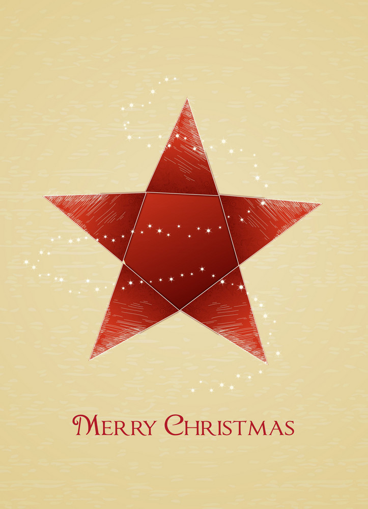 Christmas Vector Illustration With Christmas Star