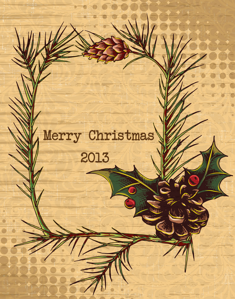 Christmas Vector Illustration With Frame