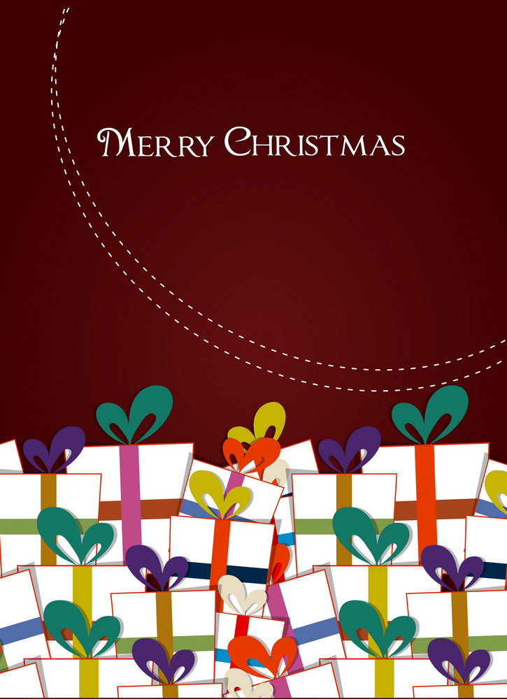 Christmas Vector Illustration With Gift