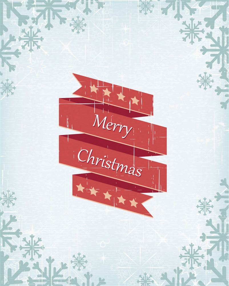 Christmas Vector Illustration With Ribbon