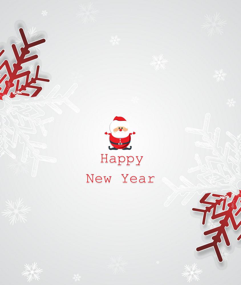 Christmas Vector Illustration With Snowflake