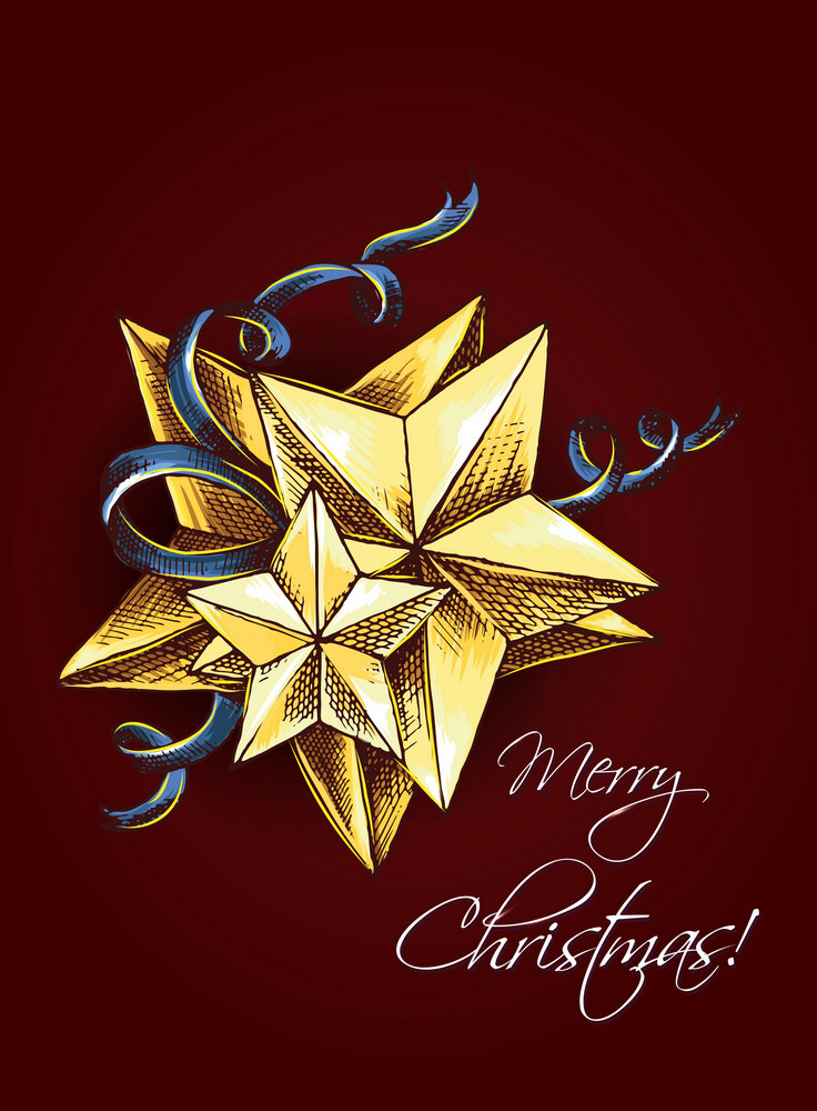 Christmas Vector Illustration  With Star