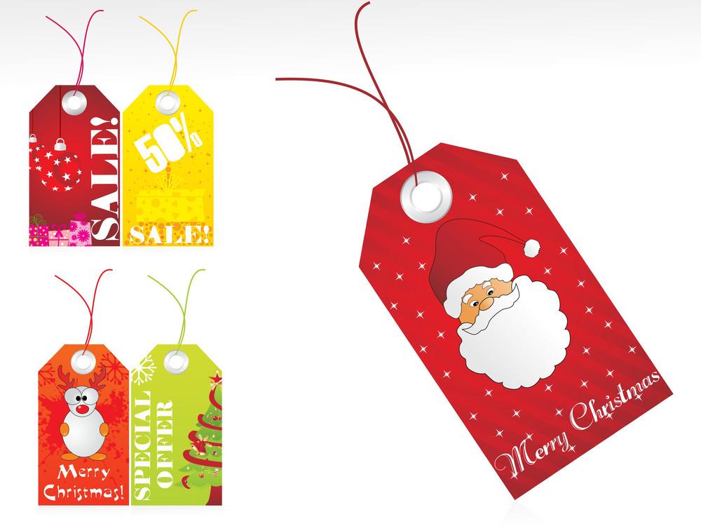 Christmas Vector Sale Tag Series