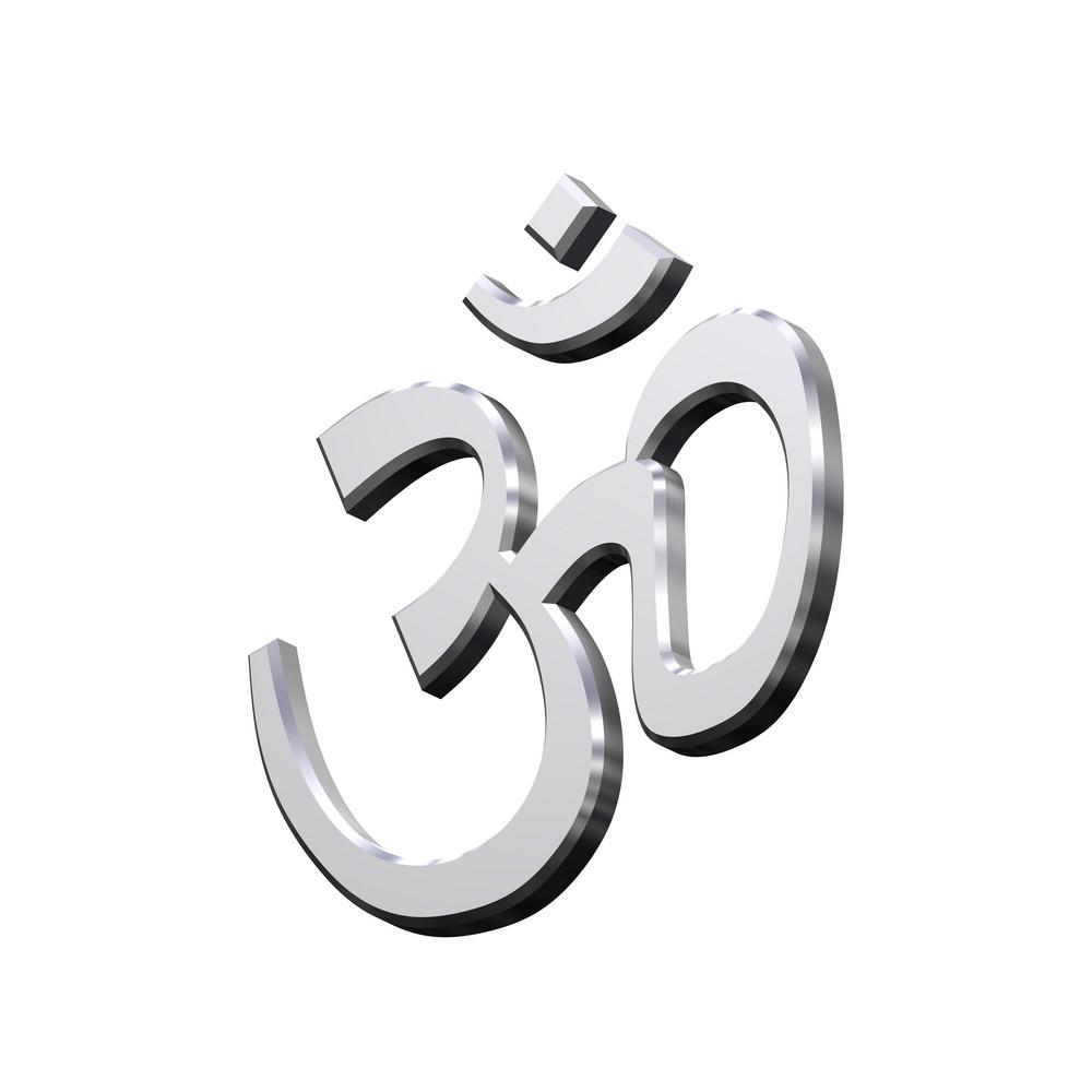 Chrome Hinduism Symbol.