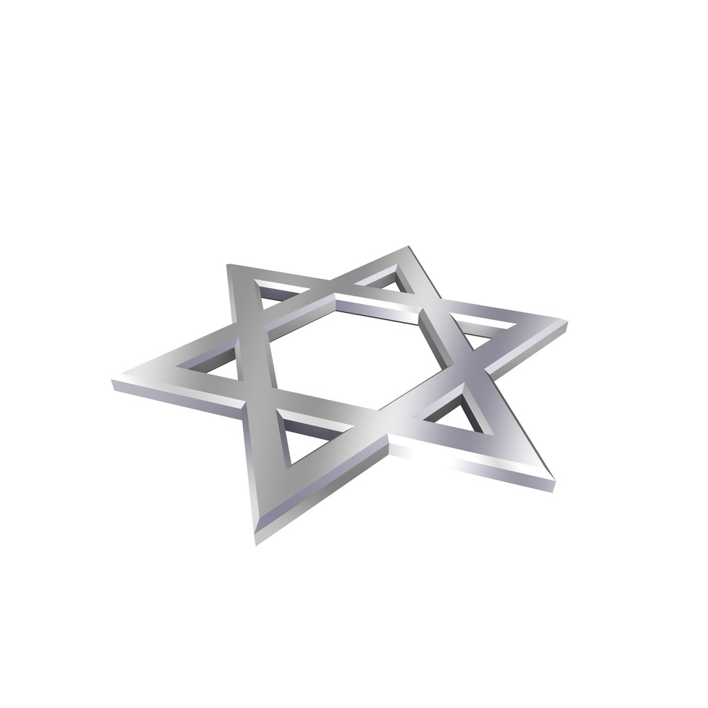 Chrome judaism religious symbol star of david isolated on white chrome judaism religious symbol star of david isolated on white buycottarizona