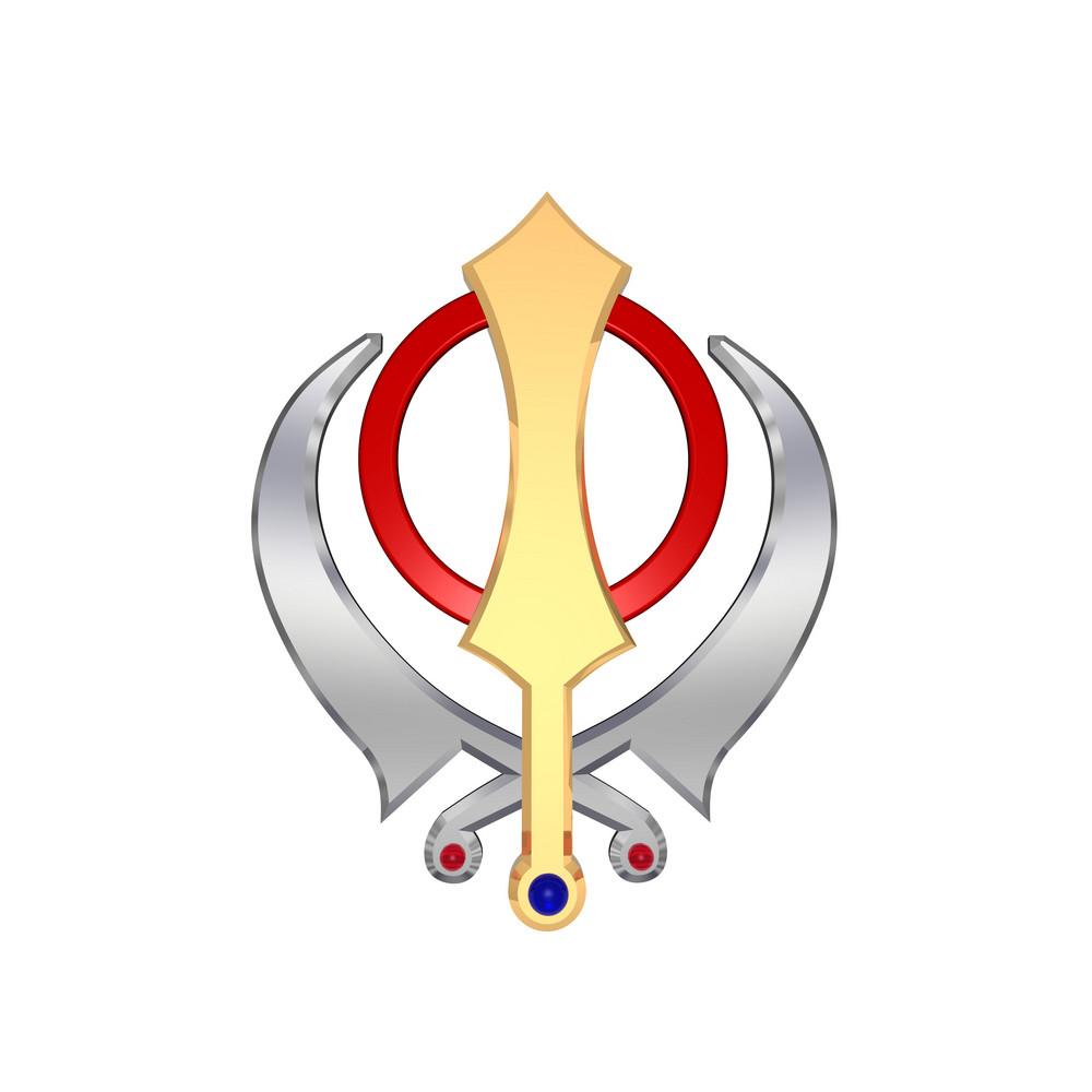 Chrome sikhism symbol royalty free stock image storyblocks chrome sikhism symbol biocorpaavc